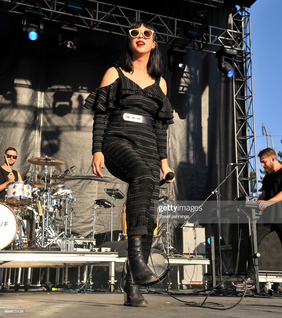 Alisa Xayalith of The Naked And The Famous performs during