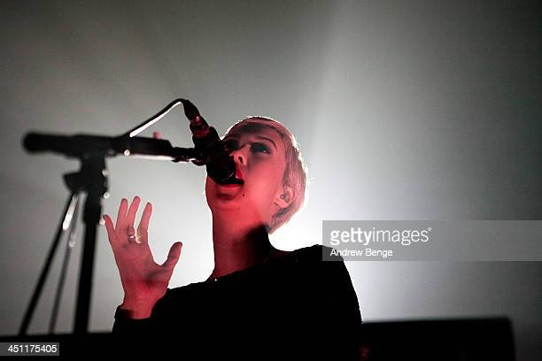 Alisa Xayalith of The Naked And Famous performs on stage at Ritz Manchester on November 21 2013 in Manchester United Kingdom