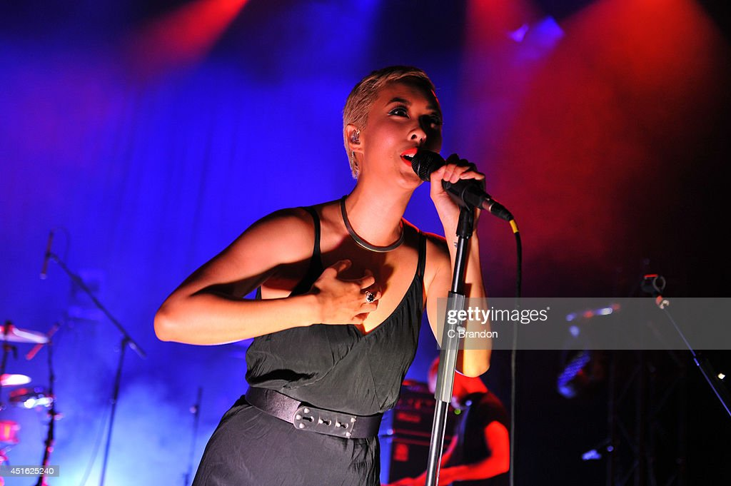 Alisa Xayalith of The Naked And Famous performs on stage