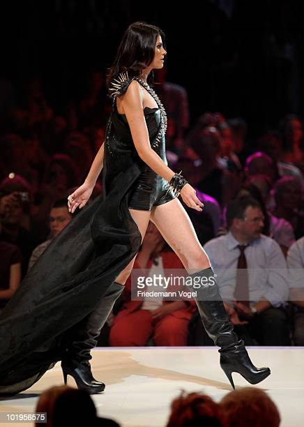 Alisar perform during the PRO7 TV show 'Germany's Next Topmodel Final' at the Lanxess Arena on June 10 2010 in Cologne Germany