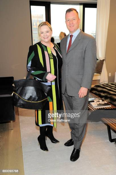Alise Collins and Paul Devlin attend 11 Beach Model Residence Unveiling Event at 11 Beach Street on March 7 2017 in New York City