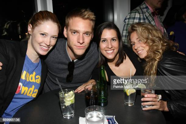 Alise Shoemaker Adam Haggiag Mariel Witmonde and Diana Mesion attend The Standard SPiN New York Classic at The Standard Hotel on May 18 2009 in New...