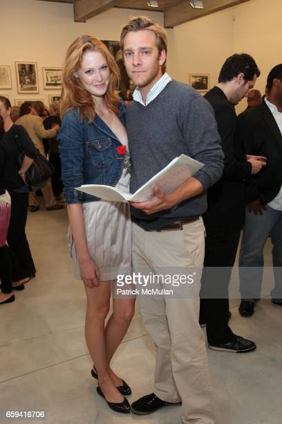 Alise Shoemaker and Adam Haggiag attend Dennis Hopper's 'Signs of The Times' Opening at the Tony Shafrazi Gallery on September 12 2009 in New York...