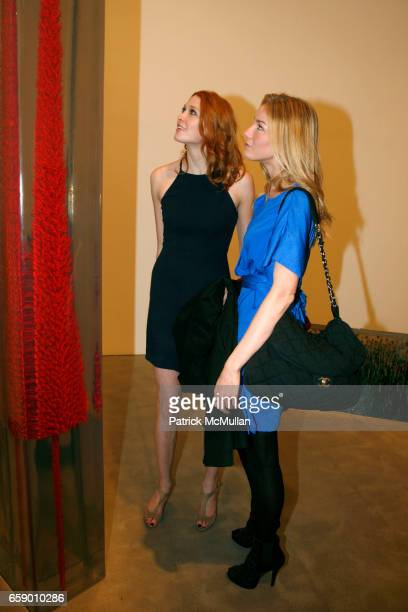 Alise Shoemaker and Amee Ruby attend ROBERT MILLER GALLERY presents 'Dust in the Brain Attic' by DUSTIN YELLIN at 524 W 26th Street on April 23 2009...
