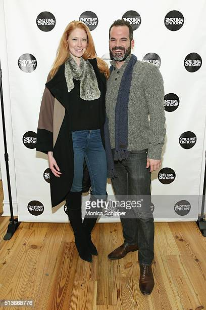 Alise Shoemaker and Christopher Lattner attend 2nd Time Around Presents Pardon Our French at 2nd Time Around on March 3 2016 in New York City