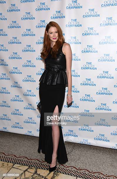 Alise Shoemaker attends The Ocean Campaign Launch Gala at Capitale on January 20 2015 in New York City