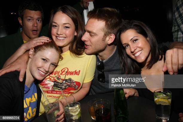 Alise Shoemaker Claire Dixon Adam Haggiag and Mariel Witmonde attend The Standard SPiN New York Classic at The Standard Hotel on May 18 2009 in New...