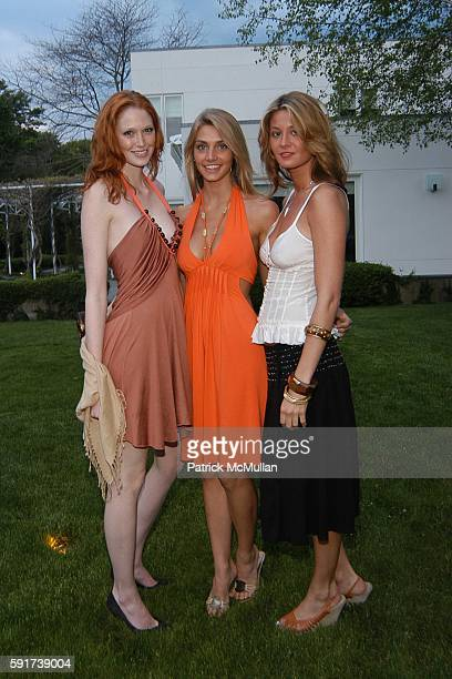 Alise Shoemaker Holli Martin and Hara Weeks attend Reed and Delphine Krakoff host cocktails to kick off the Parrish Art Museum Midsummer Gala Benefit...