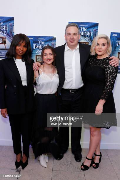 Alisha Bailey Adrianna Bertola Ron Fogleman and Natasha J Barnes attend the press night after party for 'The Twilight Zone' at The h Club on March 12...
