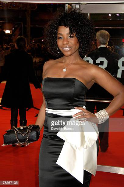 Alisha Bennett arrives at the UK Premiere of 'I Am Legend' at the Odeon Leicester Square on December 19 2007 in London England