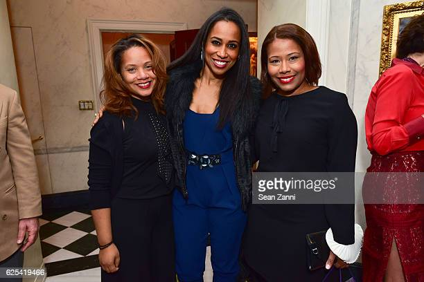 Alisha Beverly Yajaira Velazquez and Sophia Bishop attend Martin and Jean Shafiroff Host Thanksgiving Cocktails for NYC Mission Society at Private...