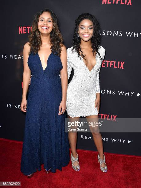 Alisha Boe Ajiona Alexus arrives at the Premiere Of Netflix's '13 Reasons Why' at Paramount Pictures on March 30 2017 in Los Angeles California