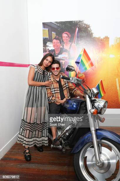 Alisha Boe and Christian Navarro on March 2 2018 in Sydney Australia The Sydney Mardi Gras parade began in 1978 as a march and commemoration of the...