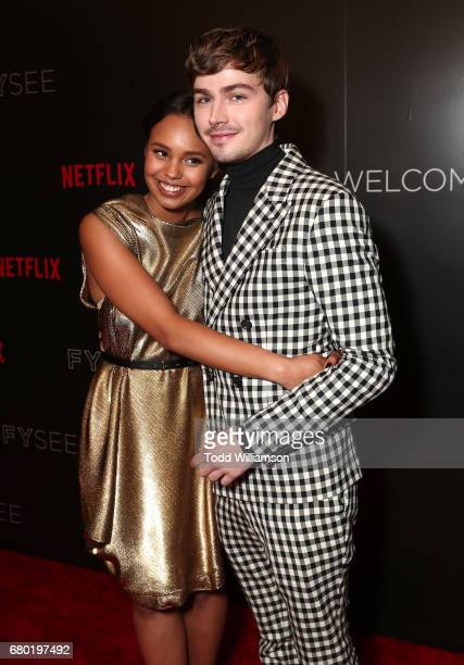 Alisha Boe and Miles Heizer attend Netflix's FYSEE KickOff Event at Netflix FYSee Space on May 7 2017 in Beverly Hills California