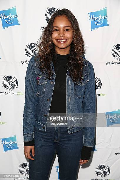 Alisha Boe arrives at the generationOn Hasbro and Pallas Management toy wrapping event on December 11 2016 in Studio City California