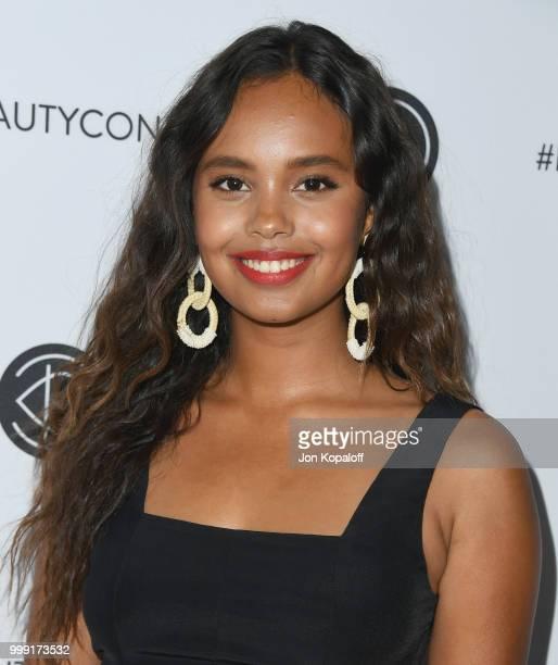 Alisha Boe attends Beautycon Festival LA 2018 at Los Angeles Convention Center on July 14 2018 in Los Angeles California