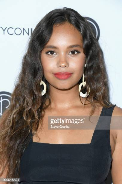 Alisha Boe attends the Beautycon Festival LA 2018 at the Los Angeles Convention Center on July 14 2018 in Los Angeles California