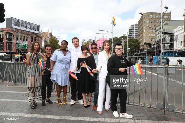 Alisha Boe Christian Navarro Danielle Brooks Jonathan Groff Yael Stone Samira Wiley Dannii Minogue and Lea Delaria in Taylor Square on March 2 2018...