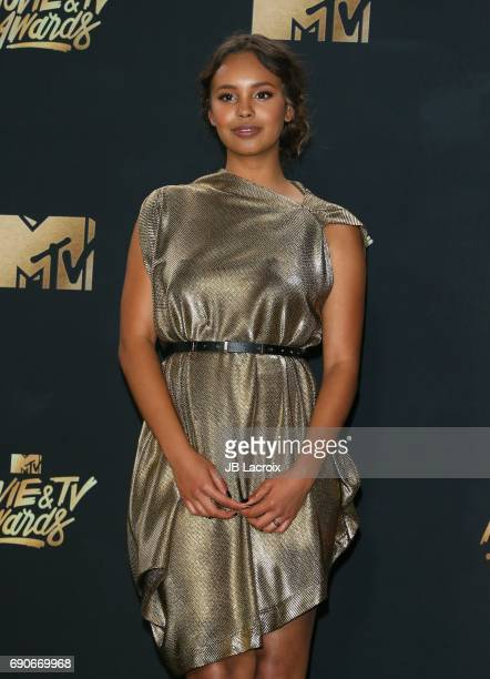 Alisha Boe poses in the press room at the 2017 MTV Movie and TV Awards at The Shrine Auditorium on May 7 2017 in Los Angeles California