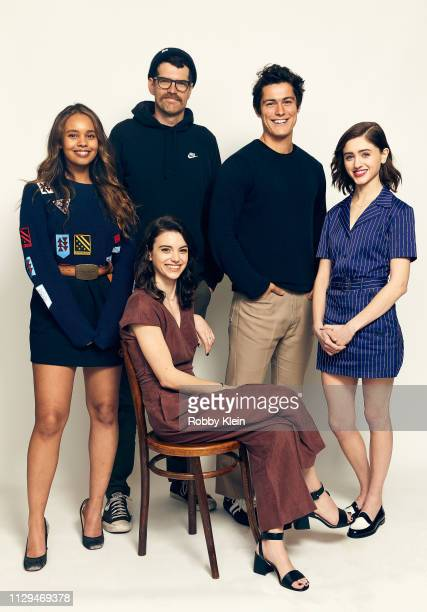 Alisha Boe Timothy Simons Francesca Reale Wolfgang Novogratz and Natalia Dyer of the film 'Yes God Yes' pose for a portrait in the 2019 SXSW Film...