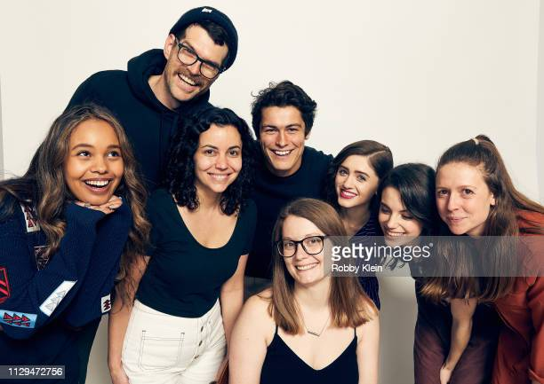 Alisha Boe Timothy Simons Wolfgang Novogratz Karen Maine Natalia Dyer and Francesca Reale of the film 'Yes God Yes' pose for a portrait in the 2019...