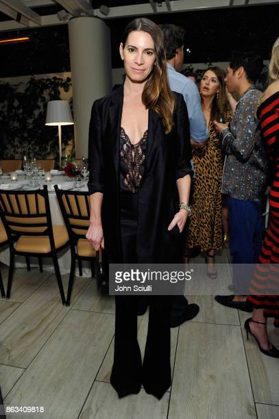 Alisha Goldstein attends THE OUTNET x Amber Valletta at Waldorf Astoria Beverly Hills on October 19 2017 in Beverly Hills California