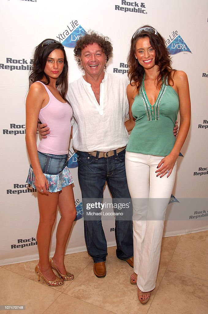 Alisha Hall, Bill Ghitis and Shannon Hughes during Sunglass Hut Swim Shows Miami Presented by LYCRA - VIP Lounge - Day 3 at Raleigh Hotel in Miami Beach, Florida, United States.