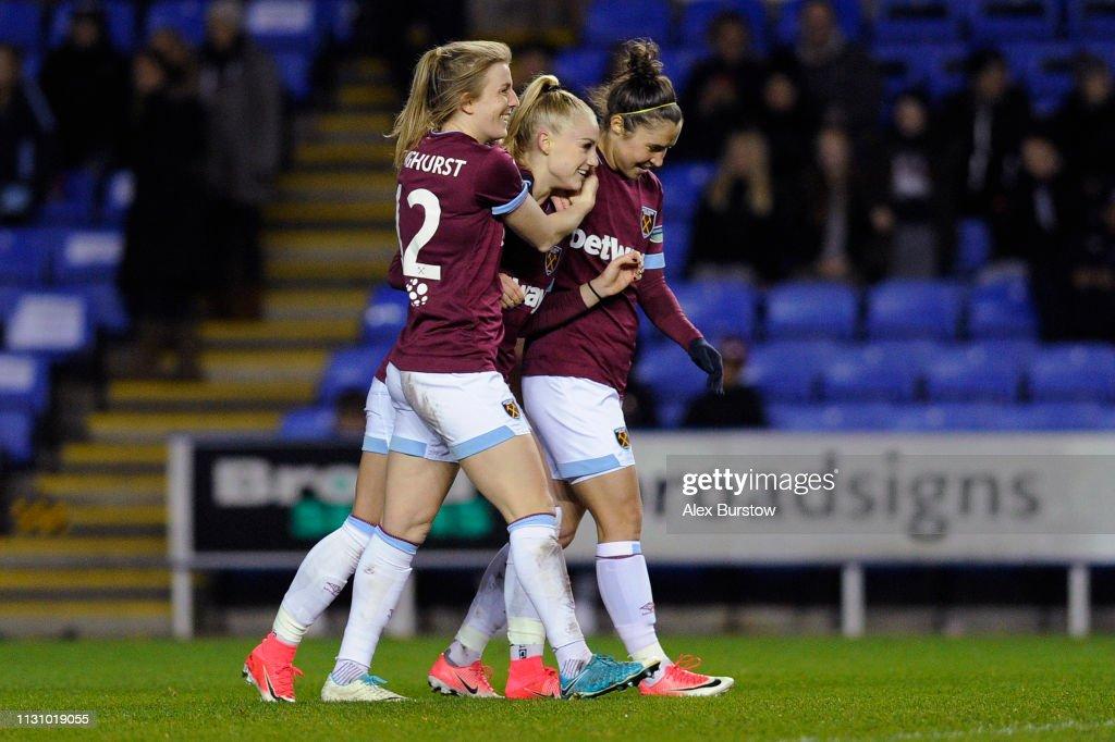 GBR: Reading Women v West Ham United Women - WSL