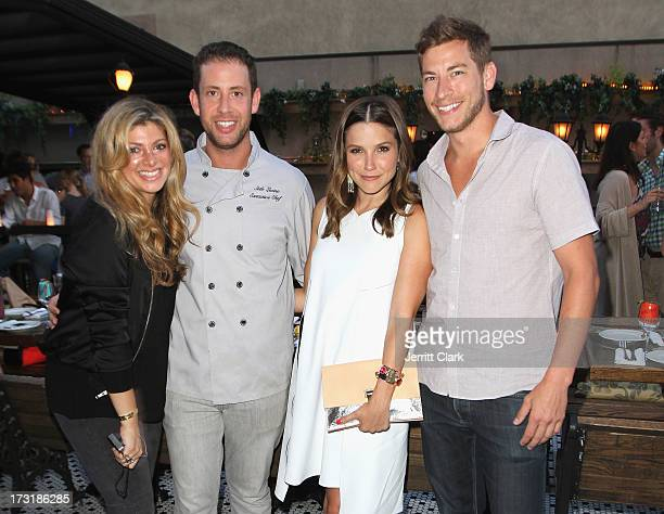 Alisha Levine, Executive Chef Seth Levine, Sophia Bush and Dan Fredinburg attend Sophia Bush's Birthday Party at Hotel Chantelle on July 8, 2013 in...