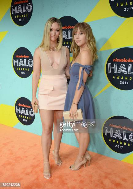 Alisha Marie and Ashley Nichole attend the 2017 Nickelodeon HALO Awards at Pier 36 on November 4 2017 in New York City