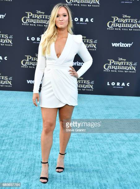 Alisha Marie arrives at the Premiere Of Disney's Pirates Of The Caribbean Dead Men Tell No Tales at Dolby Theatre on May 18 2017 in Hollywood...