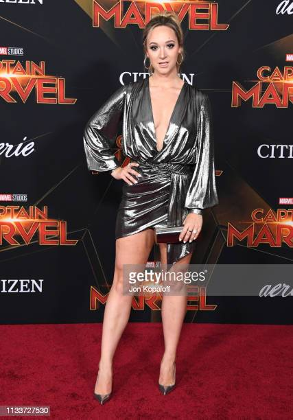Alisha Marie attends Marvel Studios 'Captain Marvel' Premiere on March 04 2019 in Hollywood California