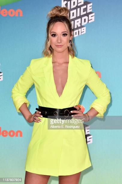 Alisha Marie attends Nickelodeon's 2019 Kids' Choice Awards at Galen Center on March 23 2019 in Los Angeles California