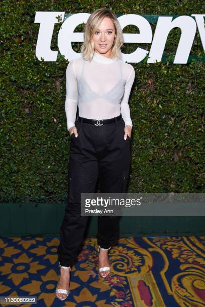 Alisha Marie attends Teen Vogue's 2019 Young Hollywood Party Presented By Snap at Los Angeles Theatre on February 15 2019 in Los Angeles California