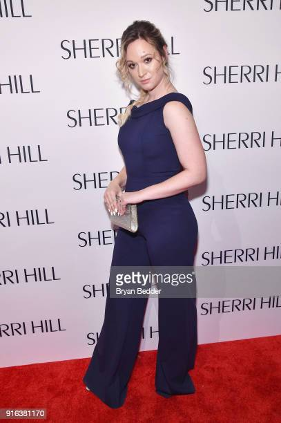 Alisha Marie attends the NYFW Sherri Hill Runway Show on February 9 2018 in New York City