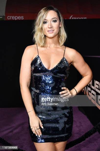 Alisha Marie attends the premiere of Columbia Pictures' Charlie's Angel's at Westwood Regency Theater on November 11 2019 in Los Angeles California