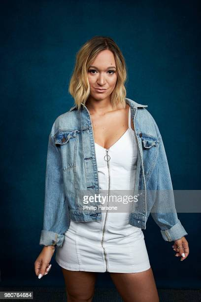 Alisha Marie poses for a portrait at the Getty Images Portrait Studio at the 9th Annual VidCon US at Anaheim Convention Center on June 21 2018 in...