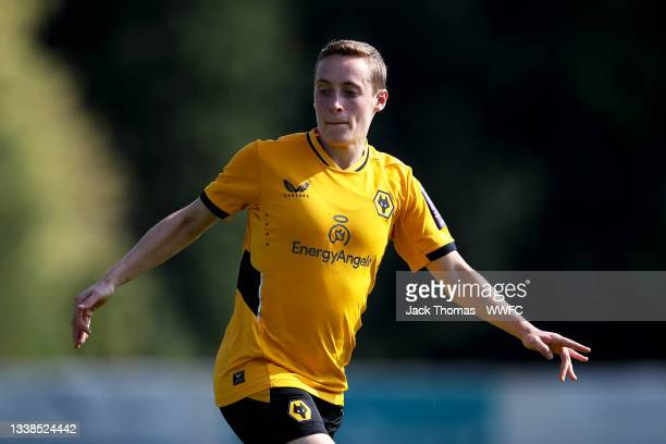 Alisha Miller of Wolverhampton Wanderers in action during the FAWNL Northern Premier Division match between Wolverhampton Wanderers Women and...