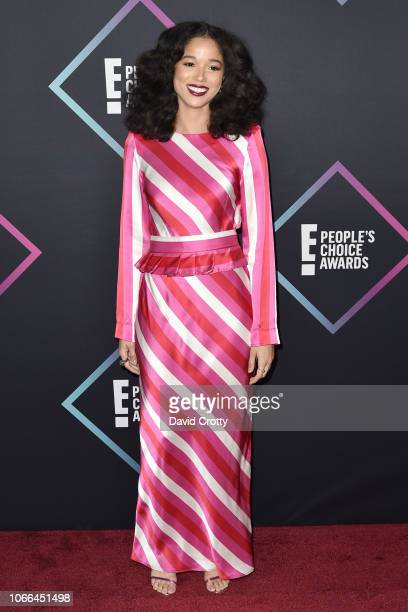 Alisha Wainwright arrives at E People's Choice Awards at Barker Hangar on November 11 2018 in Santa Monica California