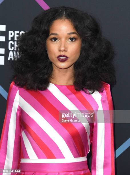 Alisha Wainwright arrives at the People's Choice Awards 2018 at Barker Hangar on November 11 2018 in Santa Monica California