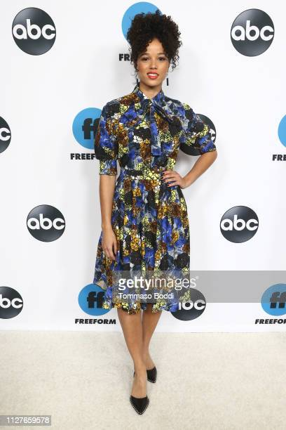 Alisha Wainwright attends the Disney ABC Television Hosts TCA Winter Press Tour 2019 at The Langham Huntington Hotel and Spa on February 05 2019 in...