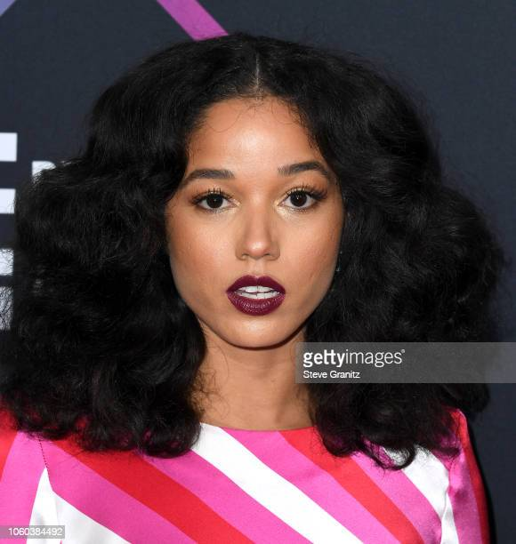 Alisha Wainwright attends the People's Choice Awards 2018 at Barker Hangar on November 11 2018 in Santa Monica California