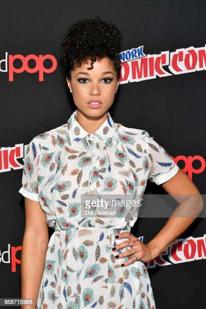Alisha Wainwright attends the Shadowhunter panel during 2017 New York Comic Con Day 3 on October 7 2017 in New York City