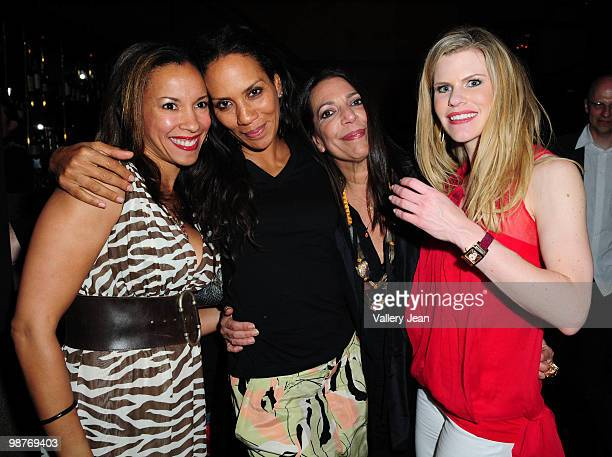 Alison Antrobus Barbara Becker Sam Robin and Suzy Buckley attend People We Love event at Cafeina restaurantloungeart gallery on April 29 2010 in...