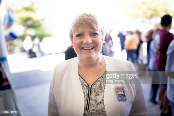 Alison Arngrim attends the Edward James Olmos launches Stamp Out Hunger Food Drive at MEND Meet Each Need with Dignity on May 8 2018 in Pacoima...