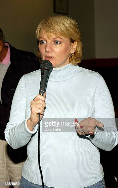 Alison Arngrim during Celebrities Meet with Homeless Veterans at the Weingart Center at The Weingart Center in Los Angeles California United States