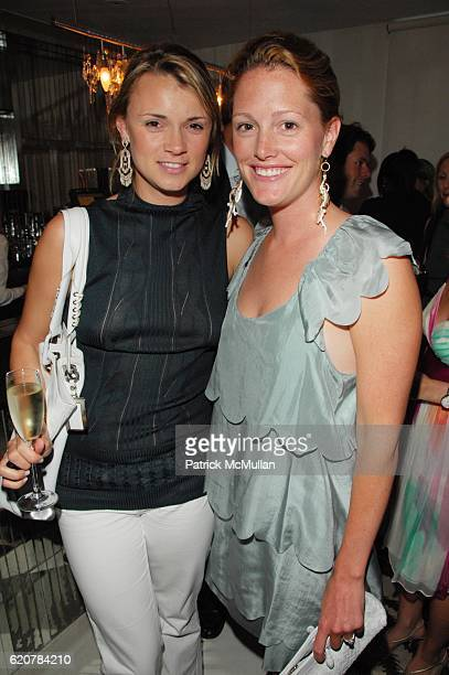 Alison Aston and Sara Gilbane Sullivan attend AMERICAN TEEN screening cocktails at SOHO HOUSE NYC on July 10 2008