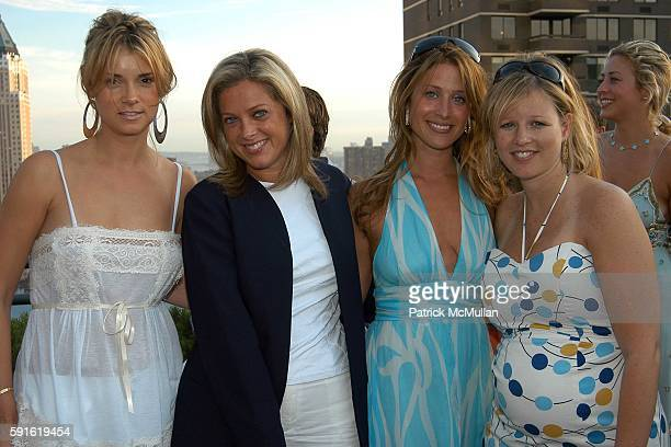 Alison Aston Di Petroff Holly Miller and Candace Koch attend Michelle Smith for Milly Swimwear Resort Collection Launch at Time Warner Residences...
