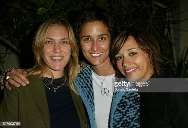 Alison Balian Alex Hedison and Rashida Jones during Peace Game Dinner at Le Deux Cafe in Hollywood California United States