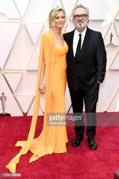 Alison Balsom and director Sam Mendes attend the 92nd Annual Academy Awards at Hollywood and Highland on February 09 2020 in Hollywood California